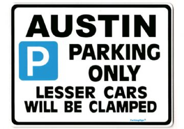AUSTIN Large Metal Sign for 7 a40 a30 1100 1300